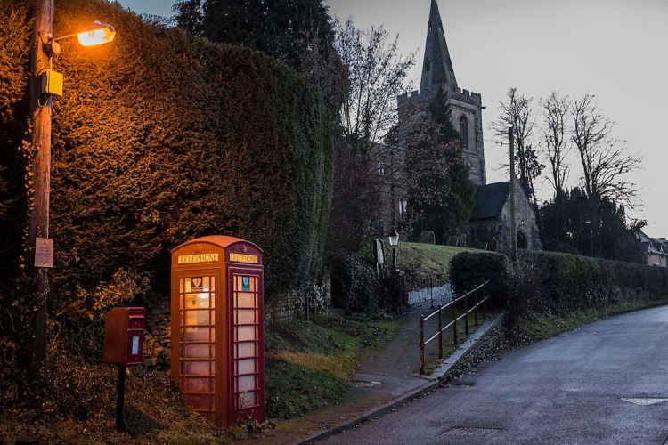 Church and Phone Box